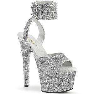 Glitter Platform High Heel Band Stripper Shoes
